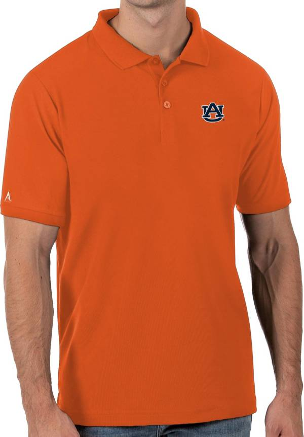 Antigua Men's Auburn Tigers Orange Legacy Pique Polo product image