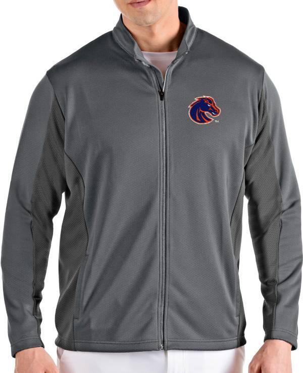 Antigua Men's Boise State Broncos Grey Passage Full-Zip Jacket product image