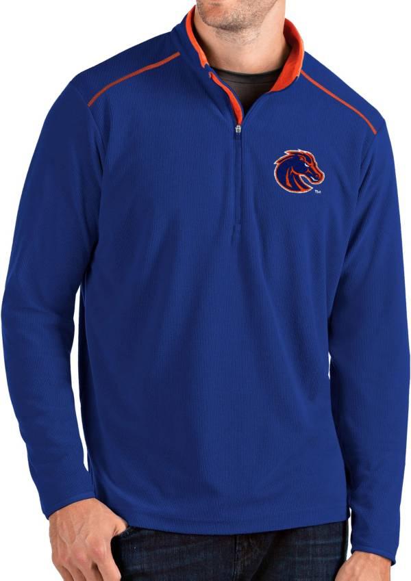 Antigua Men's Boise State Broncos Blue Glacier Quarter-Zip Shirt product image
