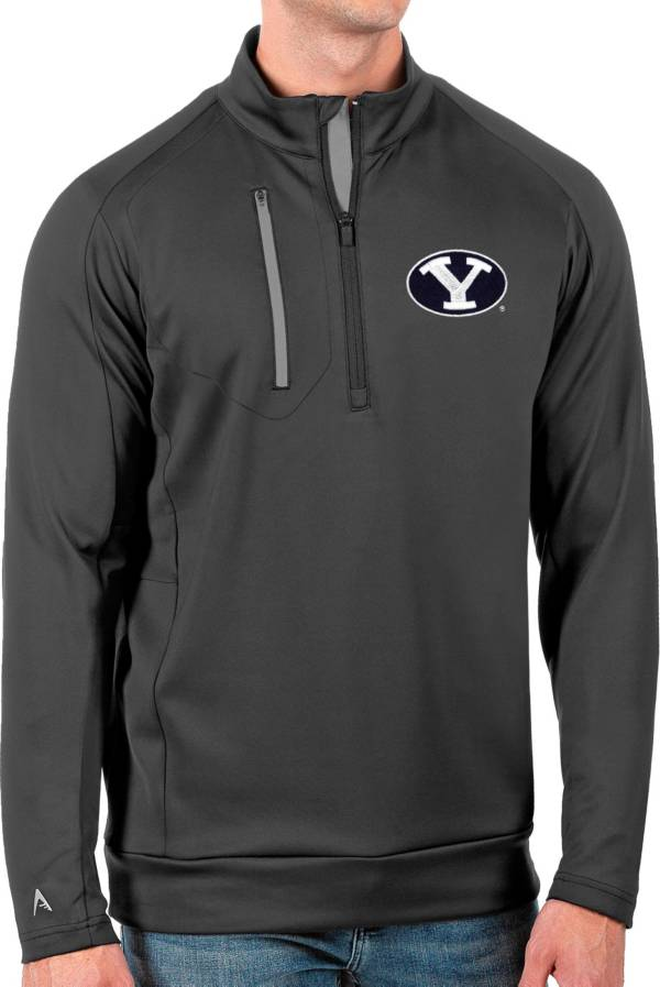 Antigua Men's BYU Cougars Grey Generation Half-Zip Pullover Shirt product image