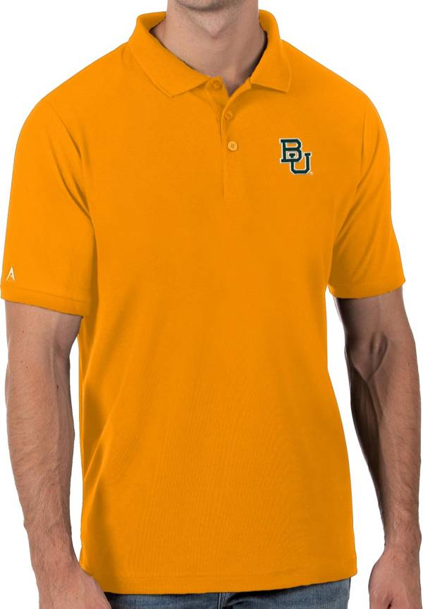 Antigua Men's Baylor Bears Gold Legacy Pique Polo product image