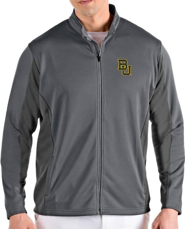 Antigua Men's Baylor Bears Grey Passage Full-Zip Jacket product image