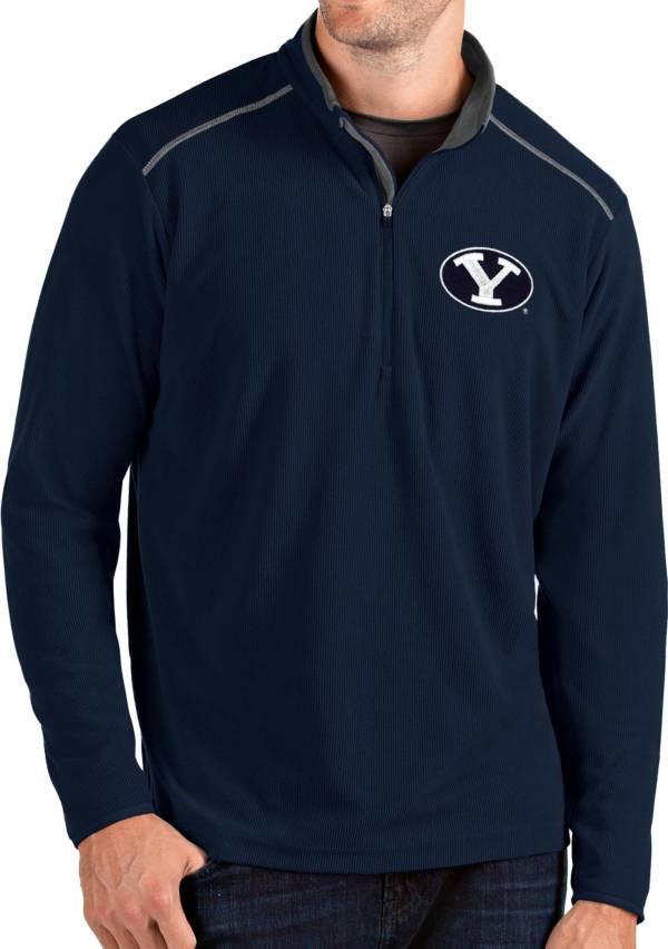 Antigua Men's BYU Cougars Blue Glacier Quarter-Zip Shirt product image