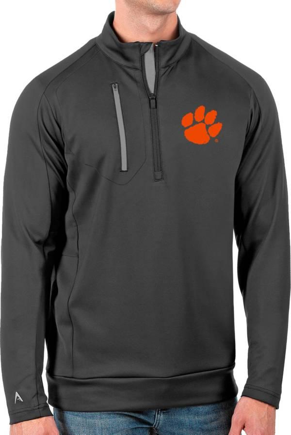 Antigua Men's Clemson Tigers Grey Generation Half-Zip Pullover Shirt product image