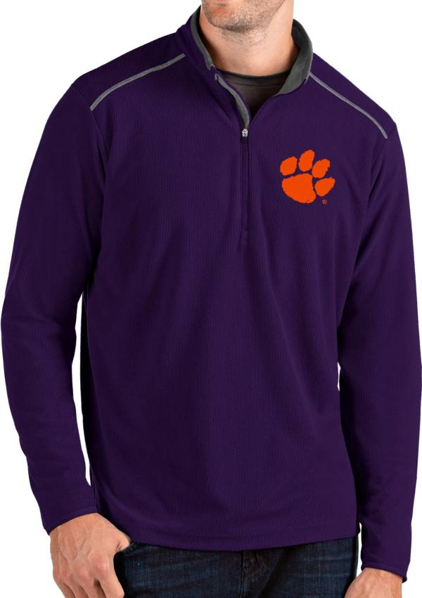 Antigua Men's Clemson Tigers Purple Glacier Quarter-Zip Shirt product image