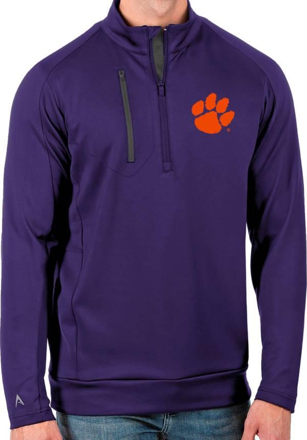 Antigua Men's Clemson Tigers Regalia Generation Half-Zip Pullover Shirt product image