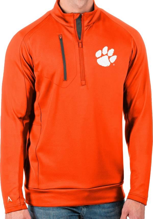 Antigua Men's Clemson Tigers Orange Generation Half-Zip Pullover Shirt product image