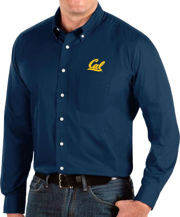 Antigua Men's Cal Golden Bears Blue Dynasty Long Sleeve Button-Down Shirt product image
