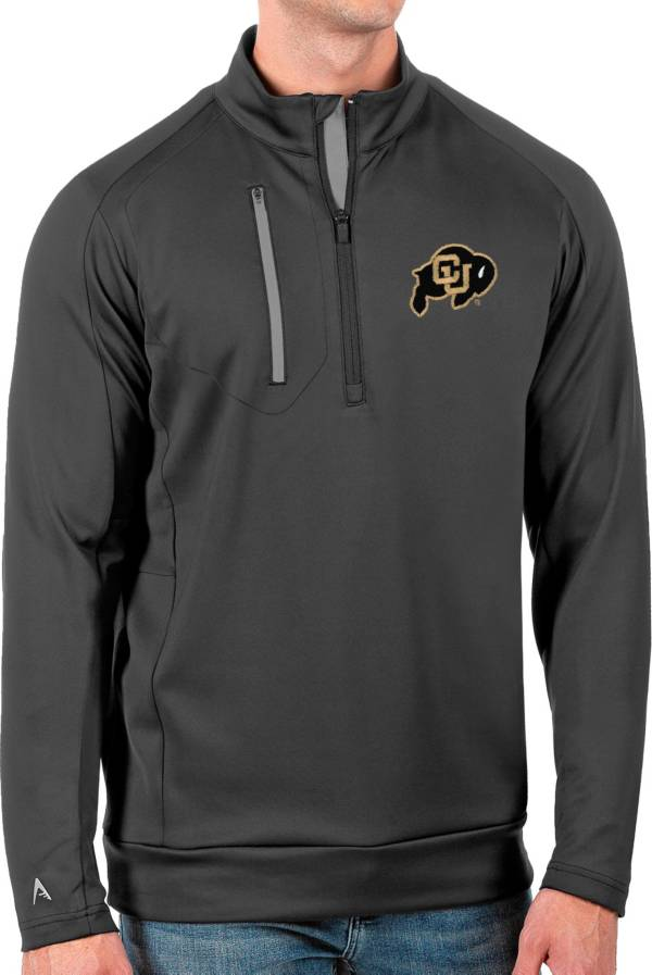 Antigua Men's Colorado Buffaloes Grey Generation Half-Zip Pullover Shirt product image