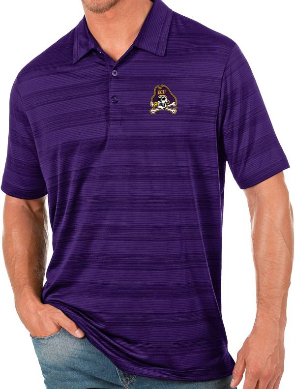 Antigua Men's East Carolina Pirates Purple Compass Polo product image