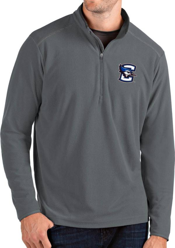 Antigua Men's Creighton Bluejays Grey Glacier Quarter-Zip Shirt product image