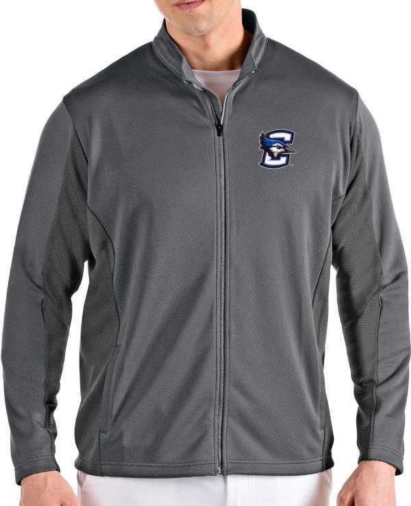 Antigua Men's Creighton Bluejays Grey Passage Full-Zip Jacket product image
