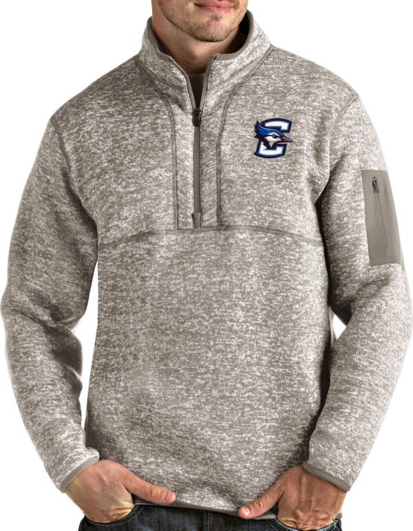 Antigua Men's Creighton Bluejays Oatmeal Fortune Pullover Black Jacket product image