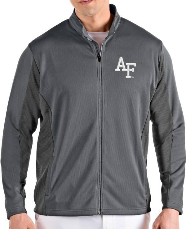 Antigua Men's Air Force Falcons Grey Passage Full-Zip Jacket product image