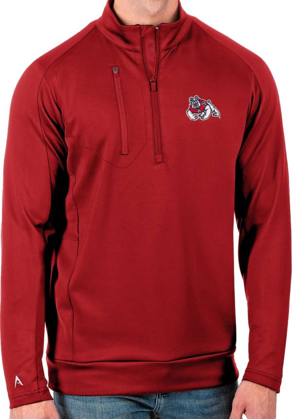 Antigua Men's Fresno State Bulldogs Cardinal Generation Half-Zip Pullover Shirt product image