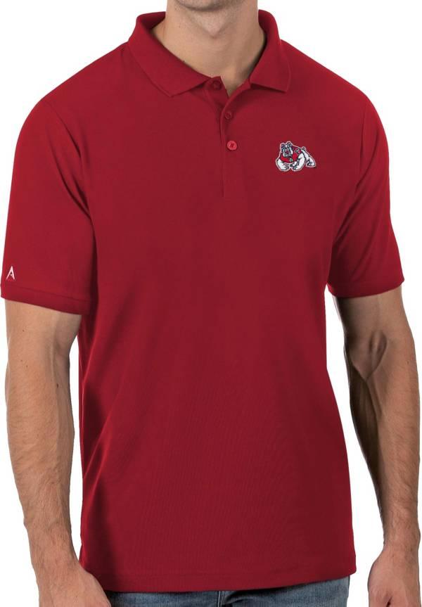 Antigua Men's Fresno State Bulldogs Cardinal Legacy Pique Polo product image