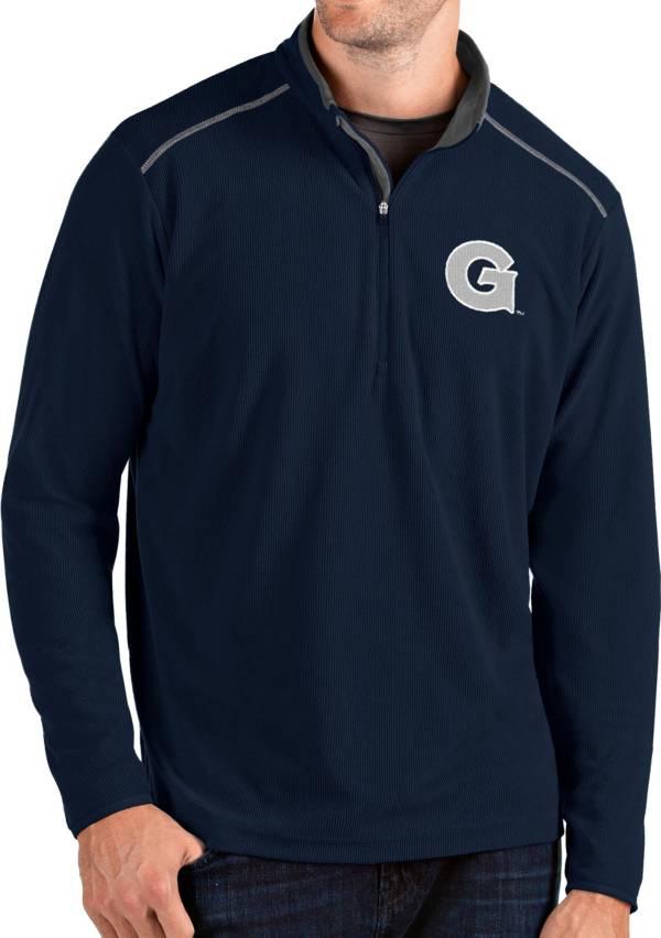 Antigua Men's Georgetown Hoyas Blue Glacier Quarter-Zip Shirt product image