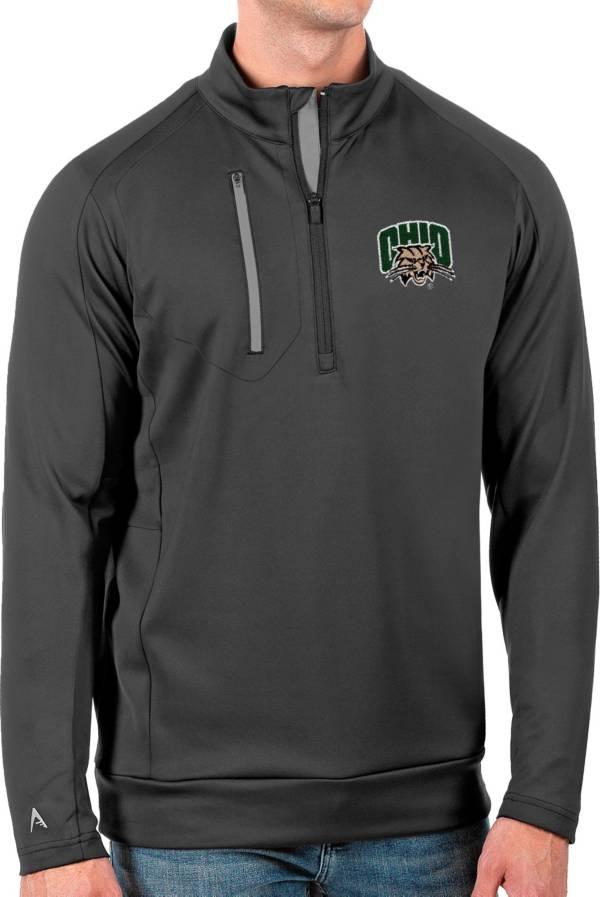 Antigua Men's Ohio Bobcats Grey Generation Half-Zip Pullover Shirt product image