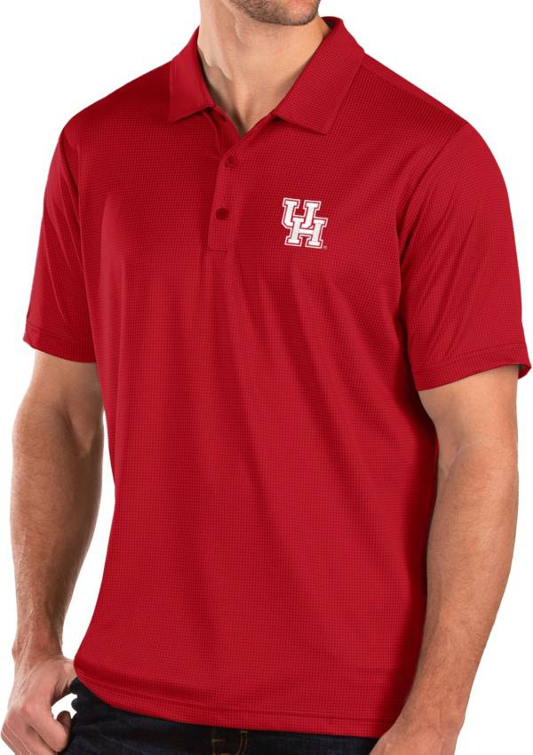 Antigua Men's Houston Cougars Red Balance Polo product image