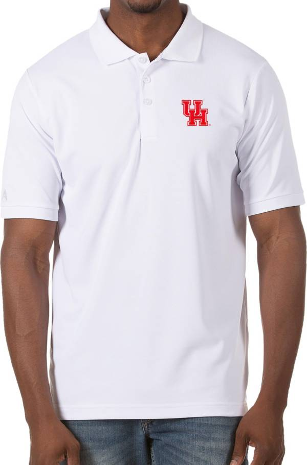 Antigua Men's Houston Cougars Legacy Pique White Polo product image