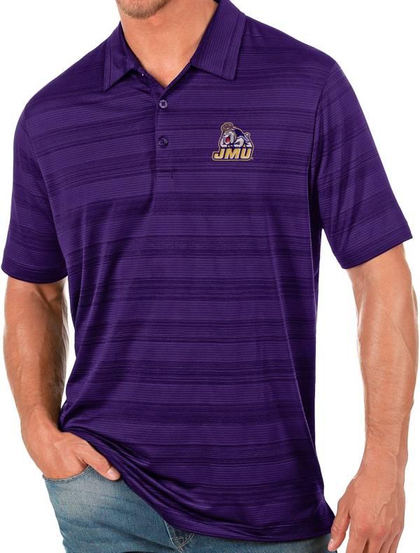Antigua Men's James Madison Dukes Purple Compass Polo product image