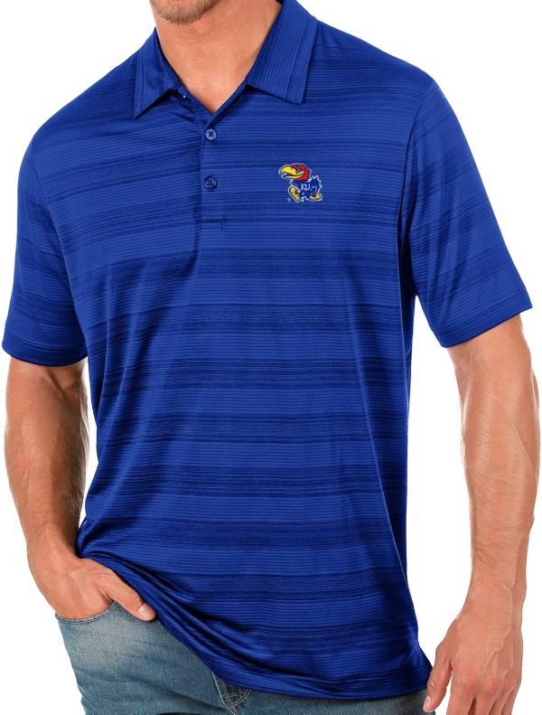 Antigua Men's Kansas Jayhawks Blue Compass Polo product image