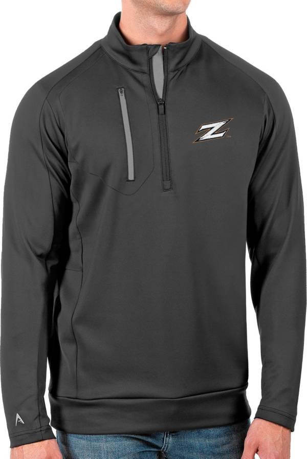 Antigua Men's Akron Zips Grey Generation Half-Zip Pullover Shirt product image