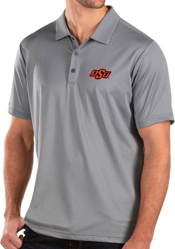 Antigua Men's Oklahoma State Cowboys Grey Balance Polo product image