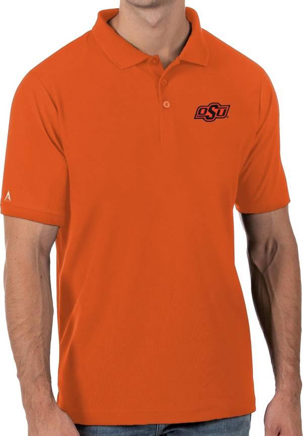 Antigua Men's Oklahoma State Cowboys Orange Legacy Pique Polo product image
