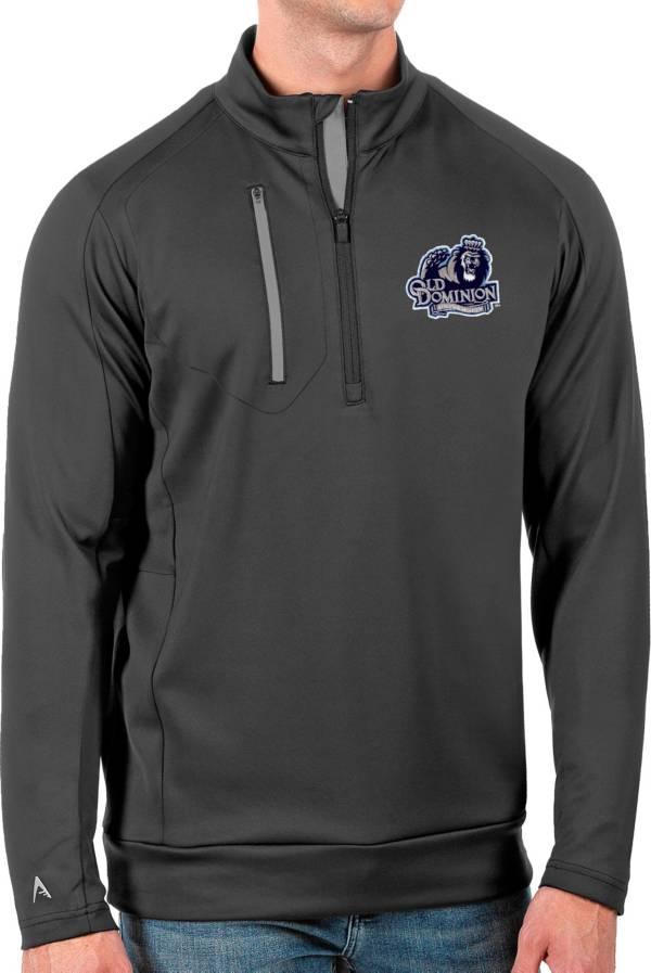 Antigua Men's Old Dominion Monarchs Grey Generation Half-Zip Pullover Shirt product image