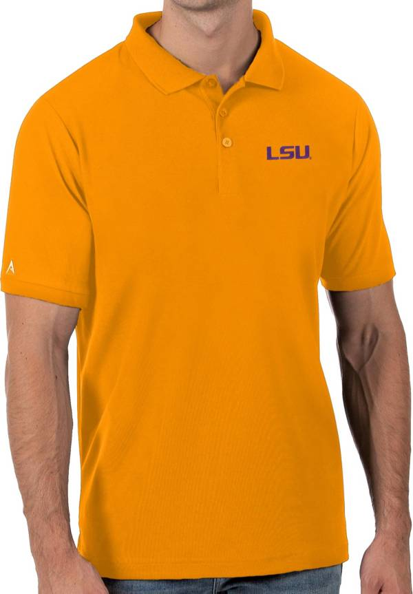 Antigua Men's LSU Tigers Gold Legacy Pique Polo product image