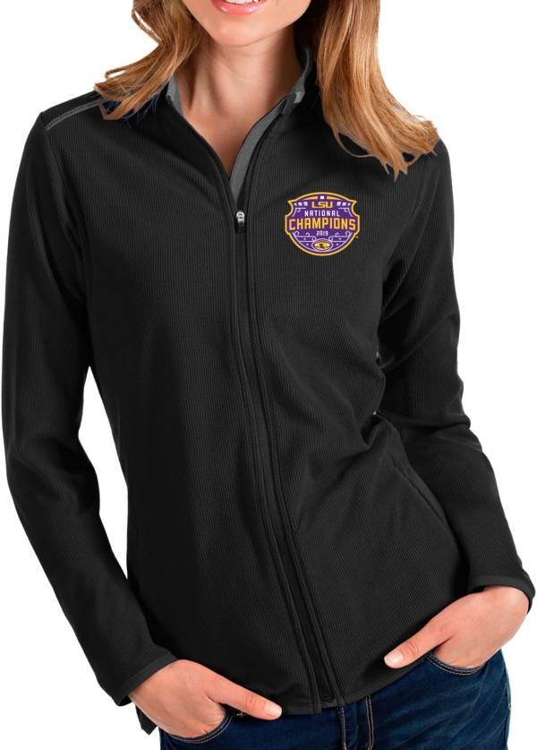 Antigua Women's 2019 National Champions LSU Tigers Glacier Full-Zip Black Jacket product image