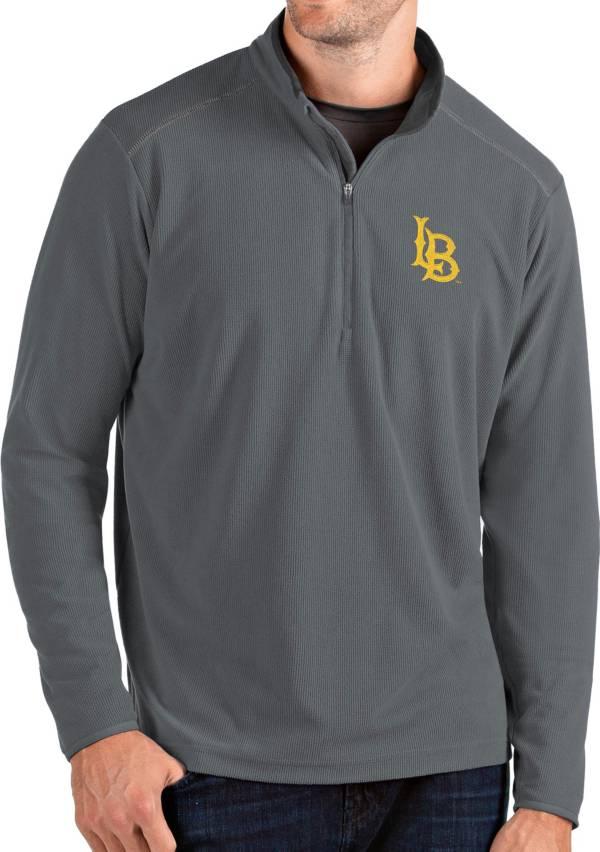 Antigua Men's LSU Tigers Grey Glacier Quarter-Zip Shirt product image