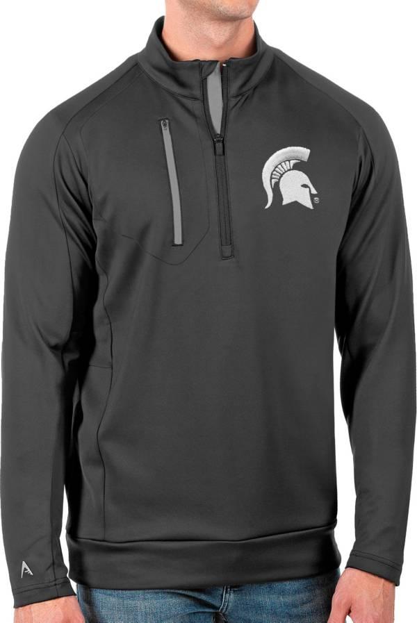 Antigua Men's Michigan State Spartans Grey Generation Half-Zip Pullover Shirt product image
