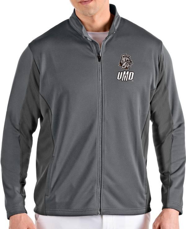 Antigua Men's Minnesota-Duluth  Bulldogs Grey Passage Full-Zip Jacket product image