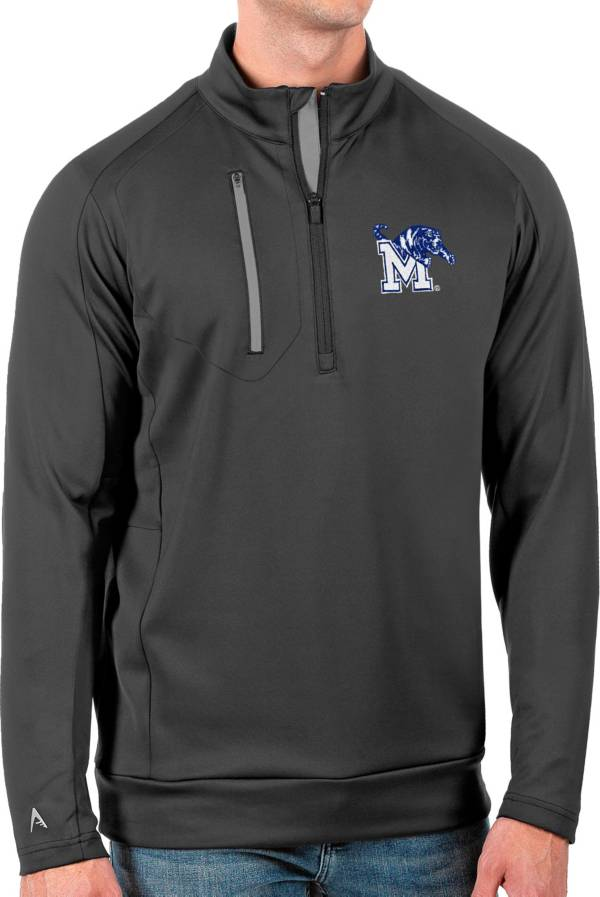 Antigua Men's Memphis Tigers Grey Generation Half-Zip Pullover Shirt product image