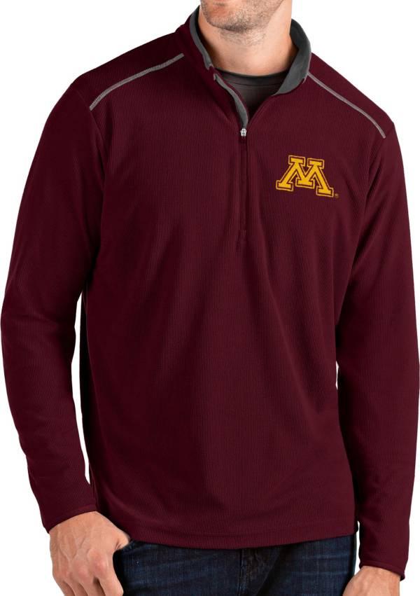 Antigua Men's Minnesota Golden Gophers Maroon Glacier Quarter-Zip Shirt product image