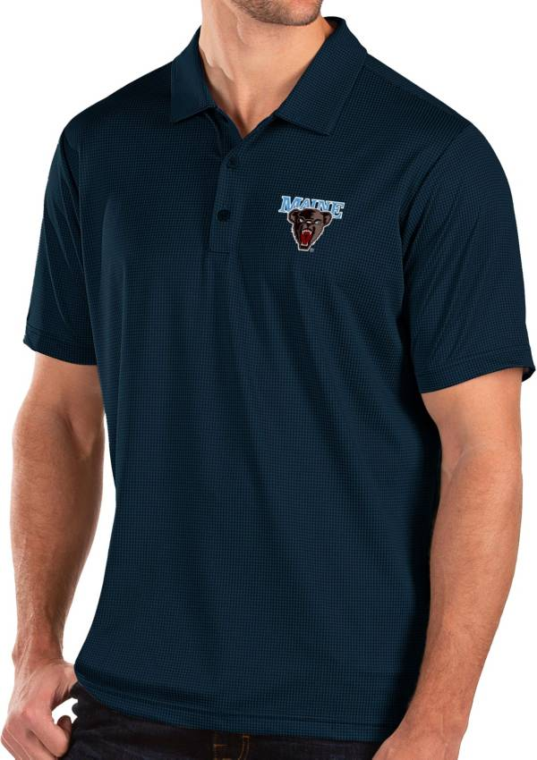 Antigua Men's Maine Black Bears Blue Balance Polo product image