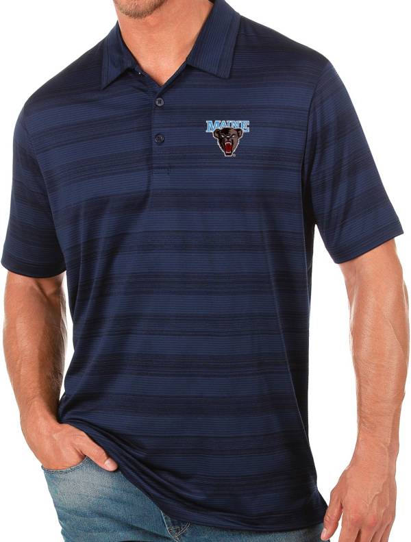 Antigua Men's Maine Black Bears Blue Compass Polo product image
