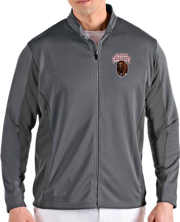 Antigua Men's Montana Grizzlies Grey Passage Full-Zip Jacket product image