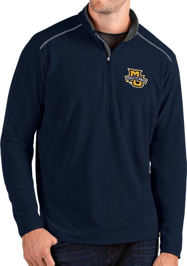 Antigua Men's Marquette Golden Eagles Blue Glacier Quarter-Zip Shirt product image