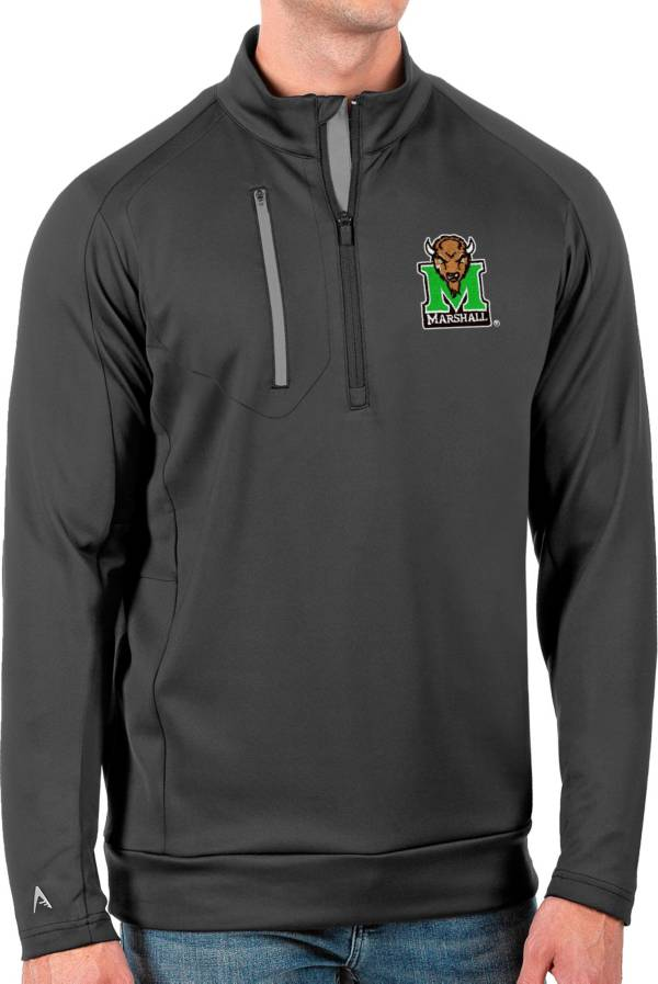 Antigua Men's Marshall Thundering Herd Grey Generation Half-Zip Pullover Shirt product image