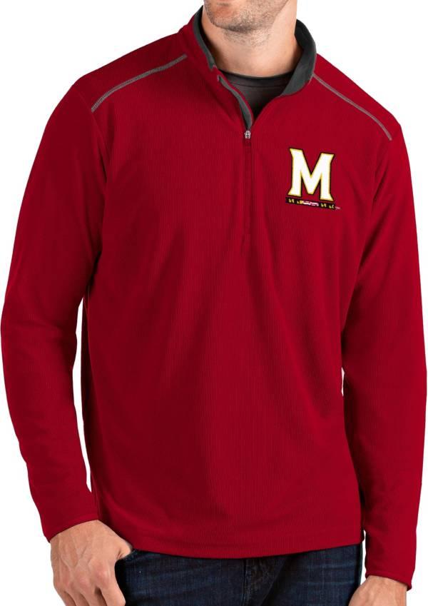 Antigua Men's Maryland Terrapins Red Glacier Quarter-Zip Shirt product image