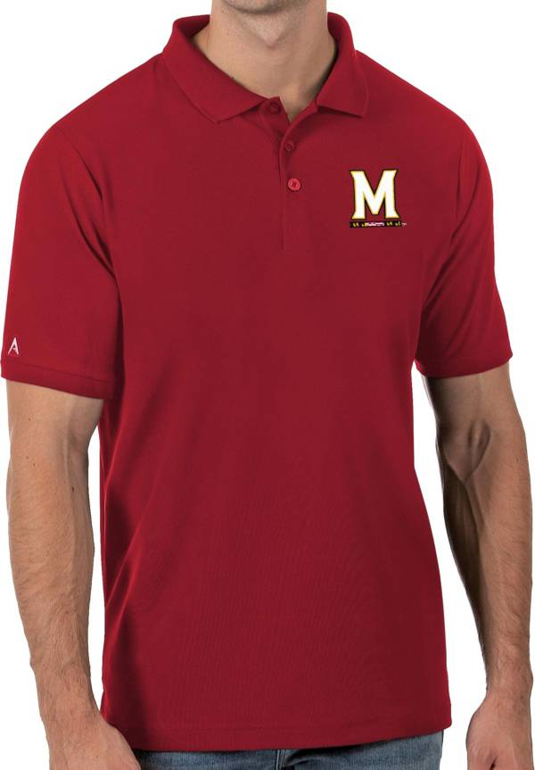 Antigua Men's Maryland Terrapins Red Legacy Pique Polo product image