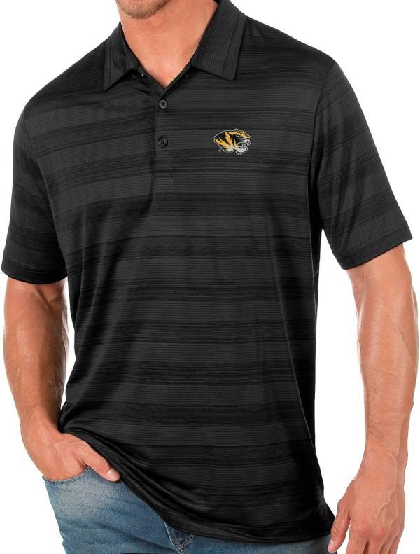 Antigua Men's Missouri Tigers Black Compass Polo product image