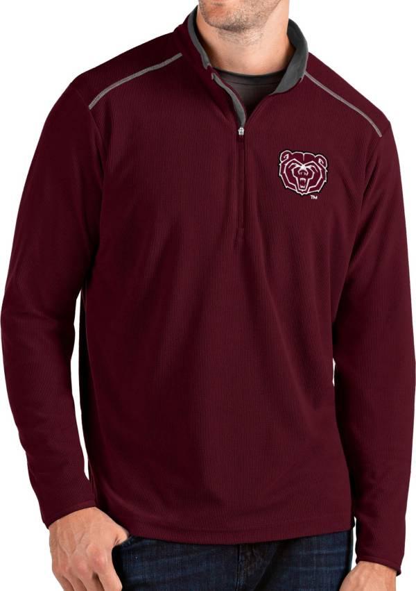 Antigua Men's Missouri State Bears Maroon Glacier Quarter-Zip Shirt product image