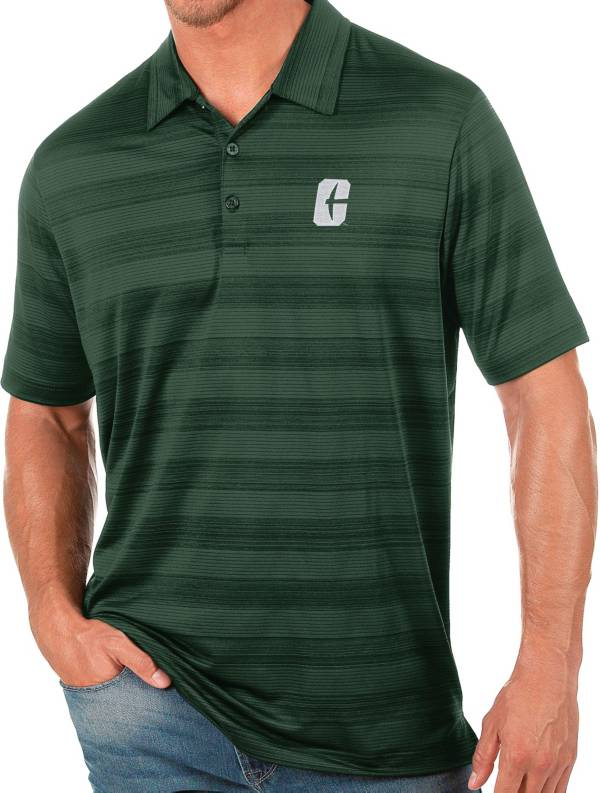Antigua Men's Charlotte 49ers Green Compass Polo product image