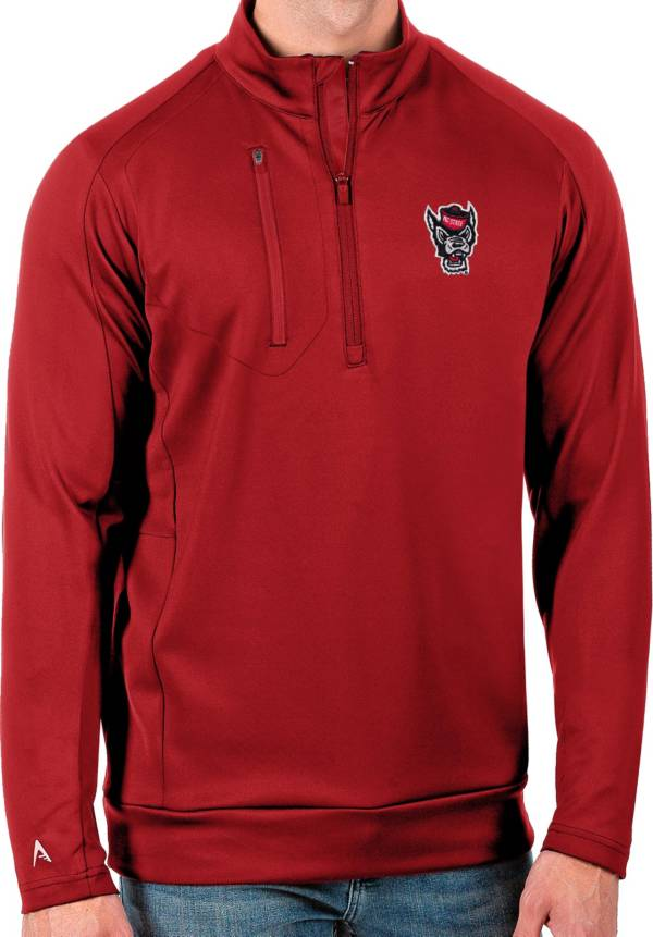 Antigua Men's NC State Wolfpack Red Generation Half-Zip Pullover Shirt product image