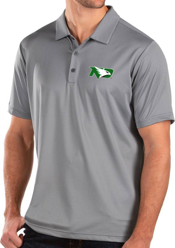 Antigua Men's North Dakota Fighting Hawks Grey Balance Polo product image