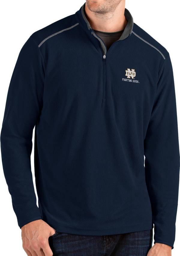 Antigua Men's Notre Dame Fighting Irish Navy Glacier Quarter-Zip Shirt product image